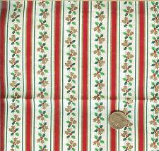 "VINTAGE! CHRISTMAS MINI HOLLY WITH RED/GREEN STRIPES - CRANSTON - BTFQ -18""X22"""