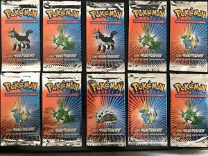 Vintage,10x EX Ruby&Sapphire booster packs, in Spanish [Factory Sealed]