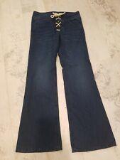 Lsenboye Juniors Jeans: Size 7/ Boot Cut Bellbottom Hippie Front Tie