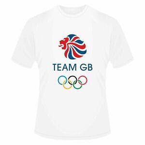 Team GB T-Shirt England UK Union Jack Flag T-Shirt Man's Unisex Sports T-Shirt