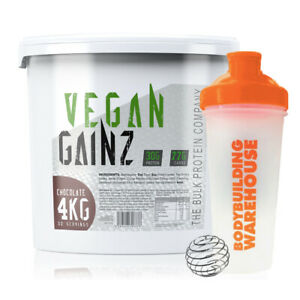 TBPC Vegan Gainz Plant Based Protein Powder Lean Muscle 4kg + FREE Shaker 700ml