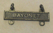 WWII QUALIFICATION BADGE  BAR NO HALLMARK WITH 2 ATTACHING RINGS