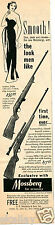 1959 Print Ad of Mossberg Model 340K & 320K Rifle the look men like Smooth!