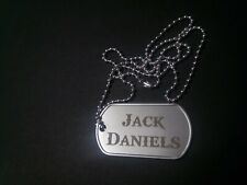Jack Daniels Stainless Steel Dog Tag Necklace