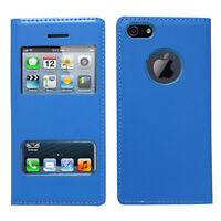 Accessoire Housse Etui Coque Plastique View Case BLEU pour Apple iPhone 5/ 5S