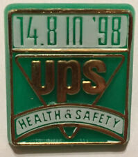 """UPS Health and Safety """"14.8 in '98"""" Pin (MINT - No Tracking)"""