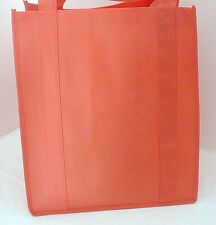 Large Size - Reusable GROCERY BAG - SOLID ORANGE - Recyclable Shopping Tote