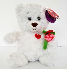 First & Main Valentines Day White Bear Oscar Be Mine Rose Nwt No. V1954 C