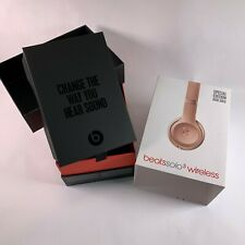 Beats by Dr. Dre Solo3 Wireless Headphones Rose Gold   Empty Original Box Only