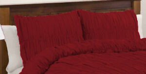 Solid Gathered Ruffle Pillow Shams Egyptian Cotton 800TC all size & color