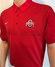 NEW Ohio State Buckeyes OSU Nike Dry-Fit Elite Polo Red Men's Large Team Issued