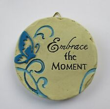 New listing b Embrace the Moment Mini Plaque fairy garden stepping stone Ganz Polystone
