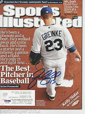 ZACK GREINKE (Royals) Signed SPORTS ILLUSTRATED with PSA/DNA COA