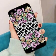 Flowers wave Printed Back case Cover for iPhone XS Max XR 8 Plus Sansung Huawei