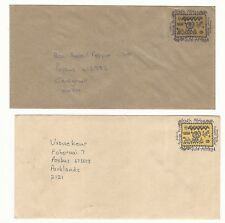 South Africa: 2 Postal Stationery 1 with cinderella and recycled paper. SH25