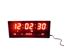 """14"""" large LED Wall Desk Alarm Clock With Calendar Temperature New Boxed"""