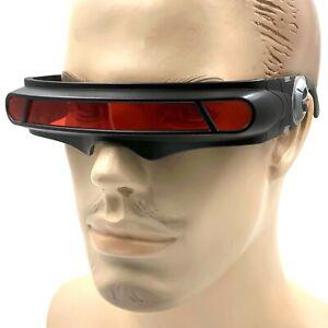 Red Space Robot Alien Party Futuristic Shield Sun Glasses X-Men Cyclops Costume