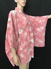 NWOT Silk Blend Vintage Japanese kimono Haori Jacket Plum Blossom Pink