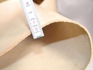 Leder Dickleder ca 2,3mm Glattleder Lederzuschnitt DIN-A4 punzieren Larp, Natur