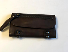 Linea Pelle Brown Leather Dylan Trifold Wallet-New