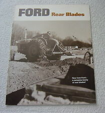 FORD TRACTOR 782 SERIES REAR BLADES c 1969 SALES BROCHURE