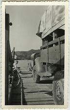 PHOTO ANCIENNE - CAMION 2CV CITROËN BARGE VOYAGE MILITAIRE (?) -Vintage Snapshot