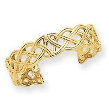 14 KT Yellow Gold Celtic Knot TOE Ring Adjustable NEW Open Work Irish Scottish
