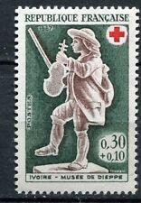 FRANCE TIMBRE NEUF N° 1541 ** VIOLONEUX JOUEUR DE VIOLON CROIX ROUGE