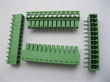 20pcs Angle 90° 12 pin 3.81mm Screw Terminal Block Connector Pluggable Type