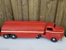 Vintage 1950's Otaco Minnitoy Esso Pressed Steel Toy Truck Hauler