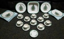33 Piece Lot Of Spode Christmas Tree China Dinner Plate Cup Saucer Square Baker