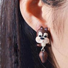 2 Part Squirrel 3D Cartoon Animal Eardrop Fimo Polymer Clay Stud Earrings