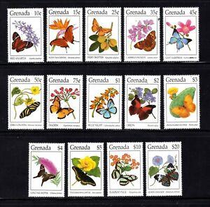 Grenada stamps #2375 - 2386b, MNHOG, XFS, complete Butterfly set, , SCV $46.60