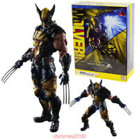 HOT Marvel Universe Play Arts Kai Wolverine Variant Square Enix Auction Statue