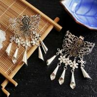 Women's Accessories Hairpins Tassel Crystal Hair Clips Alloy Pin Vintage Hairpin