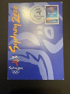 1999  —  Sydney 2000 Olympics Logo (single stamp)  — Maxi Card — 1v