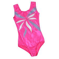 Kids Girls Gymnastics Leotards Sleeveless Ballet Costume Dancewear Bodysuit