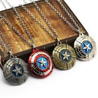 Captain America Marvel Avengers Necklace Fashion Stainless Steel Pendant