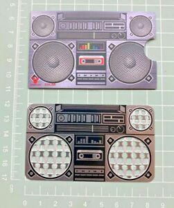 Boom Box Card Size Metal Tool  [ 5.4 cm W x 8.5cm H ] Grinder