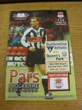 18/08/1999 Dunfermline v Queens Park [League Cup] . This item has been inspected