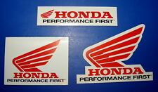 Genuine Honda Racing Set Of 3 Vintage 1980's Decal Sticker Motocross MX Moto ATV