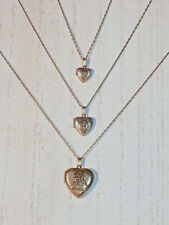 3- 14K Gold Filled Little Orphan Annie Lockets - Small Medium Large - Very Rare!
