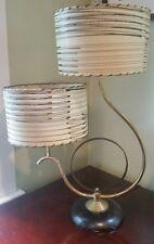 VINTAGE 1950s RETRO TABLE LAMP DUAL SHADE MID-CENTURY MODERN
