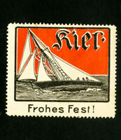 Germany Stamps Early sailboat label OG H