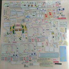 F1 Spare Decals / Logos of Minardi, Lotus, Brawn, Schumacher, Rosberg 1/18