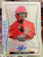 2020 Leaf Metal Draft D'Shawn Knowles Auto Silver Wave #BAP-DSK LA Angels