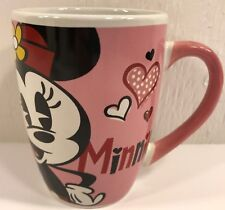 Coffee Mug Minnie Mouse Big Kiss Heart Pink Walt Disney Gallerie 12 Ounce