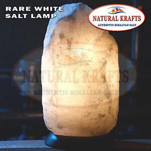 Himalayan Salt White Salt Lamp 5-7 KG Rock Crystal Natural Mineral Cable & Bulb