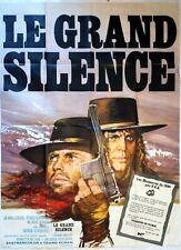 Affiche cinéma LE GRAND SILENCE KLAUS KINSKI J.L.TRINTIGNANT - 120 x 160 cm
