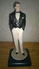 VITTORIO TESSARO *NEW* Figurine homme smoking 28cm